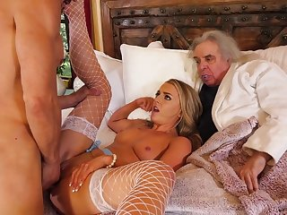 Young wife cuckolds her rich old husband