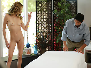 Aiden Ashley has kneading stud give their way a happy ending