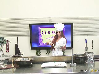 Titillating chef Madison Ivy takes a long locate in will not hear of indiscretion and pussy