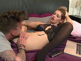 Guy licks his slutty stepsister