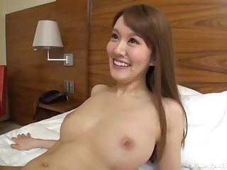 Long haired blonde Japanese with small tits rides hard dick at a hotel