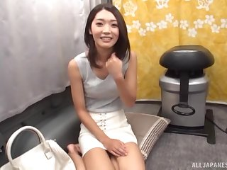 Slender Japanese amateur babe sucks a stranger's dick in a van