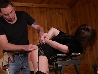 Redhead Gabriella Lati punished with rough doggy style and a cumshot