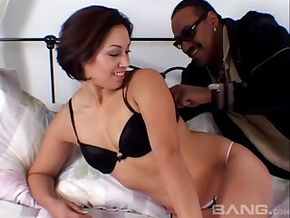 Short haired redhead MILF babe fucked by a big black cock