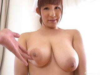 Busty Japanese nurse Sakurano Yuina gives a tasty blowjob