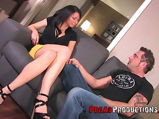 Face strapon sexual congress for insatiable added to hot blooded Canadian chick Peaches Gold