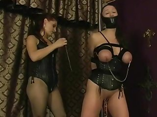 Jewell's significant tits tied and tortured