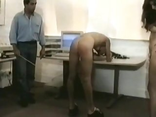 Female office domestics spanked by boss (vintage spanking)