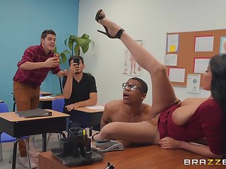 abusive teacher Anissa Kate wants to get fucked by a dude in chum around with annoy classroom