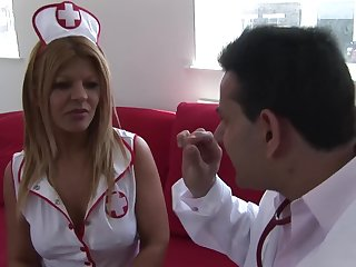 Uniformed Rio Mariah wants to please her handsome friend back hard sex