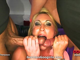 Nice beamy ass on a slut prosecution a gangbang