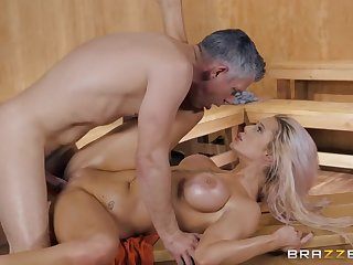 Luna Skye in insane dealings scenes down up ahead sauna