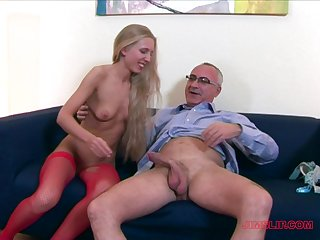 After a long day Cherry Ann can't hang down to jump on a long dick