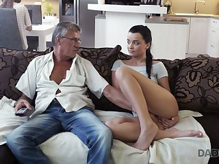 Old fart enjoys fucking cute stepdaughter's show one's age Jessica