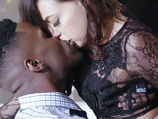 Red-letter clamminess interracial sex with naughty Whitney Wright