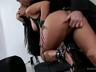 Punished and mortified bitch with juicy boobs deserves hard anal
