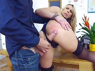 Blonde Cougar Teacher gets Ravaged by Student's Cock