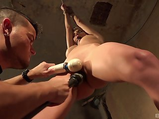 Angel Piaff confined not far from humiliated coupled with tortured with a vibrator