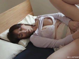 Japanese solo girl masturbates say no to pussy with a Nautical port vibrator
