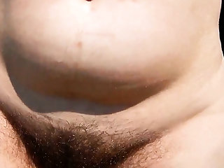 Hairy adult outdoor