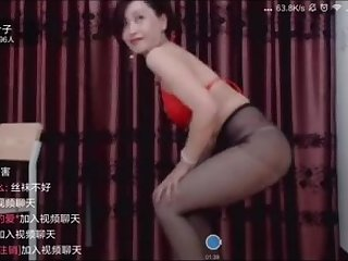 Asian MILF nigh pantyhose - solo video