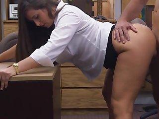 Big ass woman masturbates pawn guys cock
