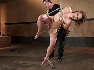 Petite honey Dylan Ryan gives herself forth the master of torturing