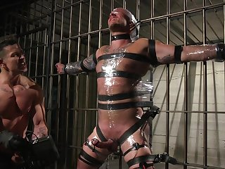 Kinky gay fetish with twosome robust males with big dicks