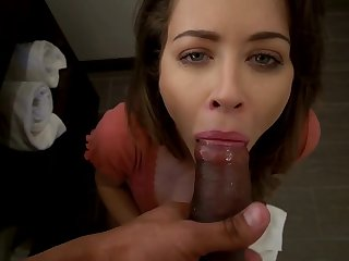 My cheating stepmom swallowed my cum after sucking me