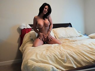 Sweet solo anal toying take hot blonde milf