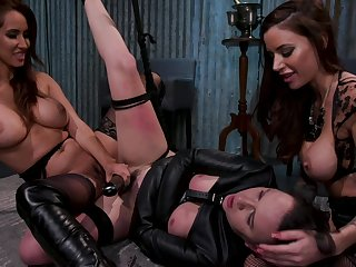Advent like a lesbian mafia punishing their poor debtor in the dungeon