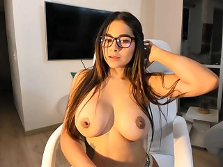 Big-Boobed black-haired says that she is a junky sista of Mia Khalifa, just a bit hornier