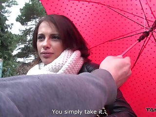 Despondent aggravation babe Nikita gets a ride home and some good dicking on a rainy day