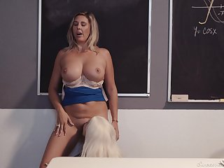 Professor of Geometry enjoying some hot cunnilingus detach from her student