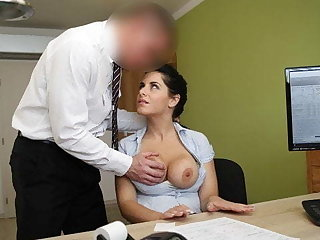 LOAN4K. Big-breasted hottie satisfies alms-man to get necessary adaptation