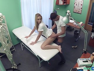Rule-breaking nurse does someone's skin nasty with a handsome patient