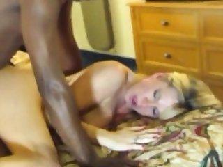 Blonde waxen sweeping with black man Hardcore Interracial