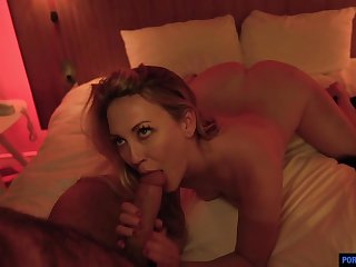 Tattooed blonde, Adira Fascination likes to make love plus suck horseshit there get under one's middle of get under one's night