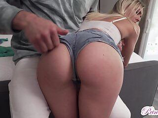 Dude spanks and fucks bootyful babe in arms with flat special Chloe House of God