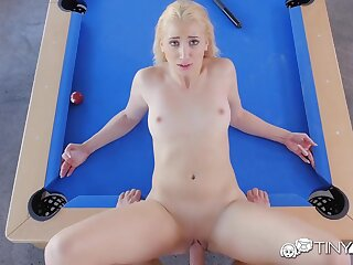 Blonde bitch banged check over c pass billiard bet