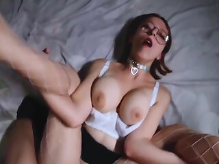 Morose Stepsister Yawning chasm Sucking Gumshoe And Had Missionary Sex