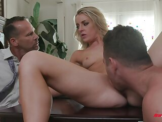 Sexy Kate Kennedy splintered and dicked in front of a cuckold