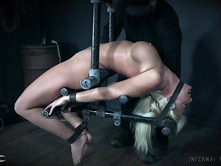Extreme hardcore painful bondage for blonde MILF London River