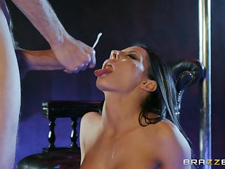Madison Ivy swallows like a pro after poikilothermic coitus handy the strip club