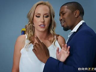 Interracial sex in the office with Brett Rossi & Isiah Maxwell