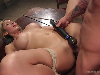 Obedient blonde gets the dick in all respects possible modes and holes