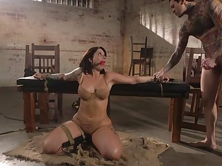 Curvaceous milf Ivy Lebelle is circumstance fucked in front a rough anal sex