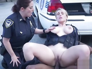 Naughty bike rider is apprehended by cock hungry milfs flatfoot