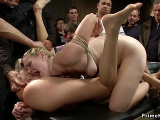 Blond Hair Girl and redhead ass carnal knowledge copulated in public
