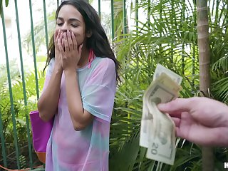 Girl receives good cash to suck dick and get laid on cam